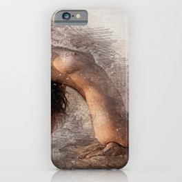 Naked Yoga on the Beach iPhone Case