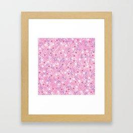 Strawberry Smoothie Paw Prints Framed Art Print