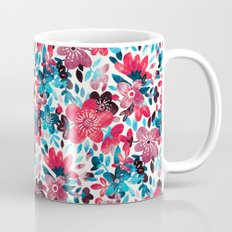 Happy Red Flower Collage Mug