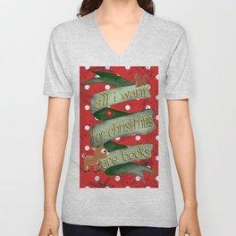 Christmas books Unisex V-Neck