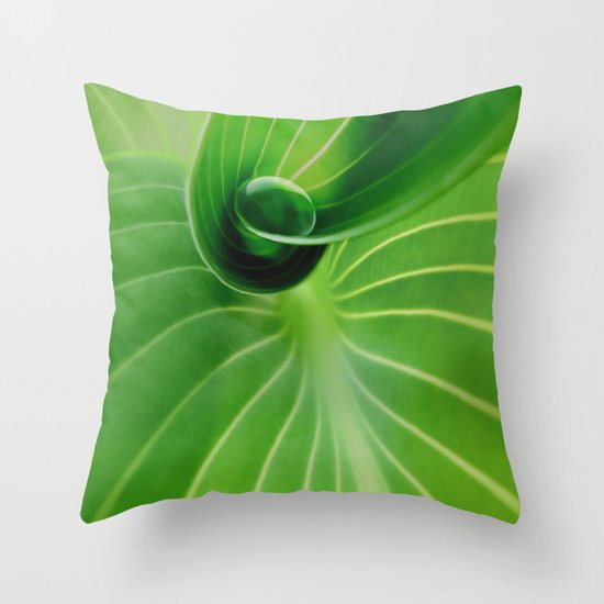 Leaf / Hosta with Drop (2) Throw Pillow