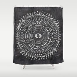 Music note mandala 2 (chalk) Shower Curtain
