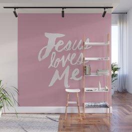 Jesus Loves Me x Rose Wall Mural