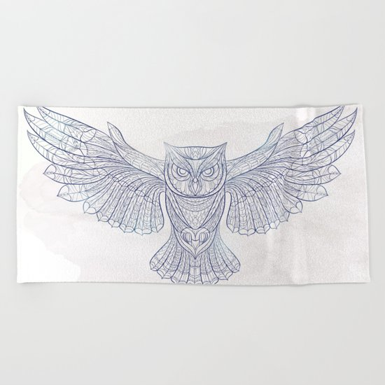 Ethnic Owl Beach Towel