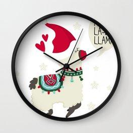 Christmas Fa la la la la Lama Gift Wall Clock