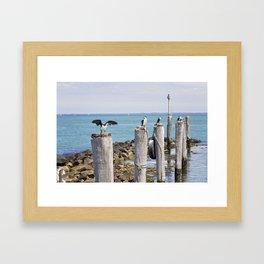 Pole Sitters Framed Art Print