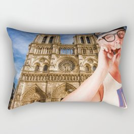 An American In Paris Notre Dame Rectangular Pillow
