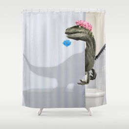 """Velociraptor"" Shower Curtain Shower Curtain"