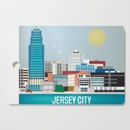 Jersey City, New Jersey - Skyline Illustration by Loose Petals Cutting Board
