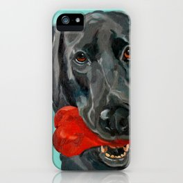 Ozzie the Black Labrador Retriever iPhone Case