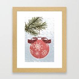 Christmas Ball Framed Art Print