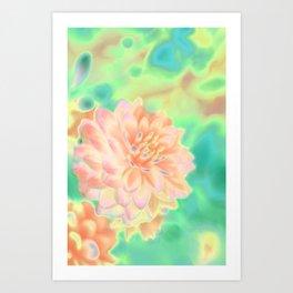 Chrysanths Art Print