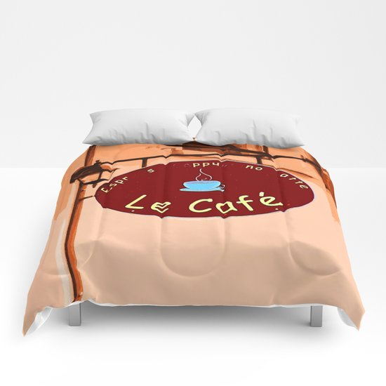 Le Cafe, France Comforters