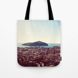 View over Dubrovnik Croatia Tote Bag