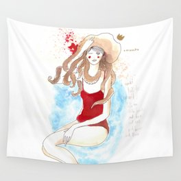 Girl and Octopus (obsession) Wall Tapestry