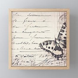 postal butterfly {b&w Framed Mini Art Print