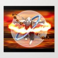 aang Canvas Prints featuring Avatar Aang by Waffle Guru