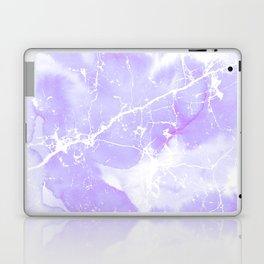 Modern abstract blush violet white marble pattern Laptop & iPad Skin