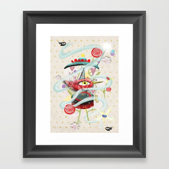 Hidding our loneliness sweetness  Framed Art Print