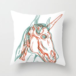 Unicorn Xray Throw Pillow