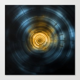 Ctrl.Sci 001: Heavy Ion Collider Canvas Print