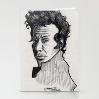 tom waits Stationery Cards featuring TOM WAITS by Simone Bellenoit : Art & Illustration