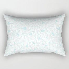 Leaves in Ice Rectangular Pillow