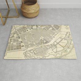 Vintage Map of Copenhagen Denmark Expansions Rug