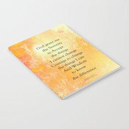 Serenity Prayer Orange Poppy Garden Glow Notebook