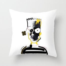 No.1 - Beauty isn't only skin deep /  b-ART Throw Pillow