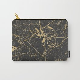 Marble Black Gold - Young Forever Carry-All Pouch
