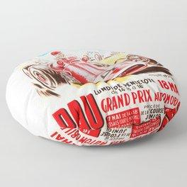 Grand Prix Pau, vintage poster, car t-shirt, car poster Floor Pillow