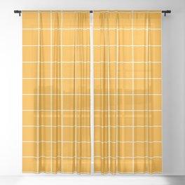 Marigold Grid Sheer Curtain