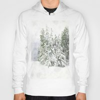 snowboarding Hoodies featuring Winter Fresh by Pure Nature Photos