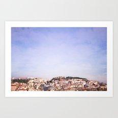 Lisbon on a sunny day Art Print