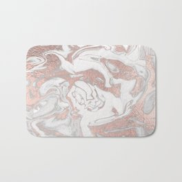 Rosegold marble Bath Mat