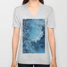 ATLANTIC - OCEAN - BLUE - OCEAN - BLUE - WATER - PHOTOGRAPHY Unisex V-Neck