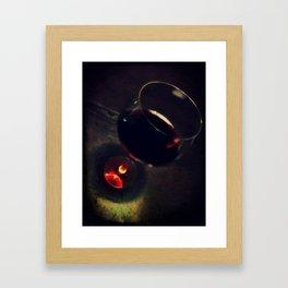 wine cup Framed Art Print