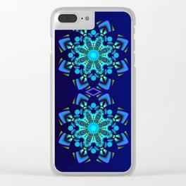 Geometric kaleidoscope flower Clear iPhone Case