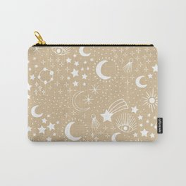 Magic Universe shooting stars and wishful eye moon sparkle and constellation blue Carry-All Pouch
