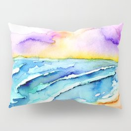 violet clouds - beach at sunset Pillow Sham