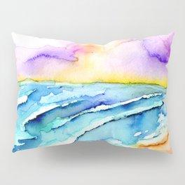 violet clouds - beach at sunset Pillow Sham