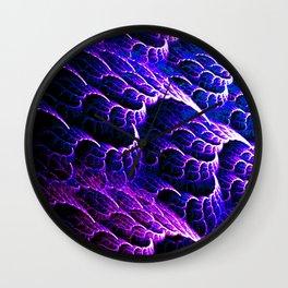 Blue Leaf Caverns Wall Clock