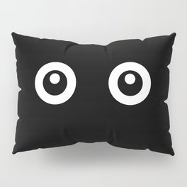 Scared Cartoon Eyes in the Dark Pillow Sham