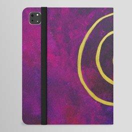 Philip Bowman Infinity Deep Purple And Gold Abstract Modern Art Painting iPad Folio Case