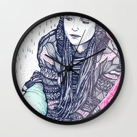 daria Wall Clocks featuring daria by Andon Georgiev