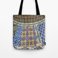 mexican Tote Bags featuring Mexican Tiles by Renee Trudell