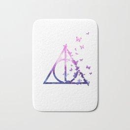 Deathly Hallows galaxy butterfly - wand, cloak, stone - Potterhead Bath Mat