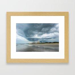 Ominous Storm Lurking  Framed Art Print