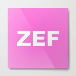 ZEF Metal Print